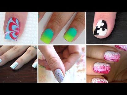 Nail Art Designs Without Any Nail Art Tools Youtube Nails
