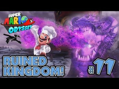 Bowsers Pet Dragon Boss Battle In The Ruined Kingdom Super