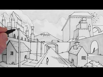 How To Draw 1 Point Perspective For Beginners A Hallway 0000 10