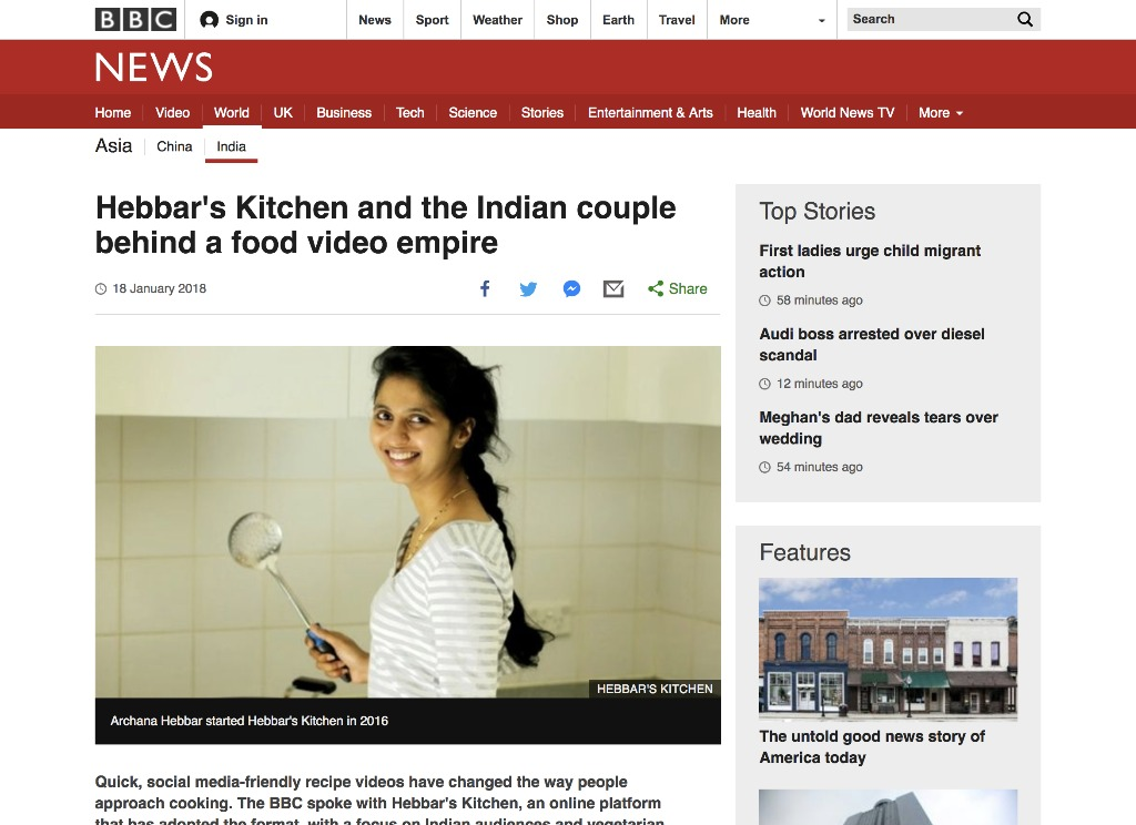 hebbars kitchen and the indian couple behind a food video empire bbc news - Hebbars Kitchen 2
