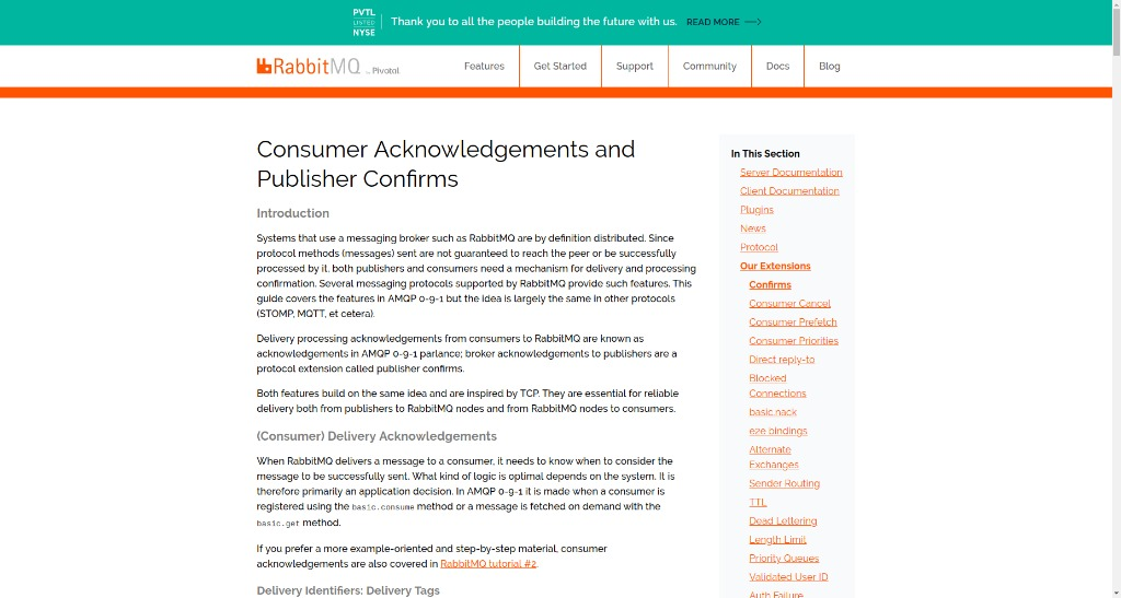RabbitMQ - Consumer Acknowledgements and Publisher Confirms - Thu
