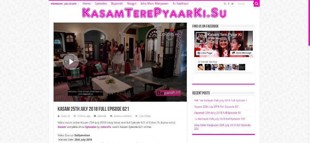 Kasam 25th July 2018 Full Episode 621 - Video - Wed Jul 25