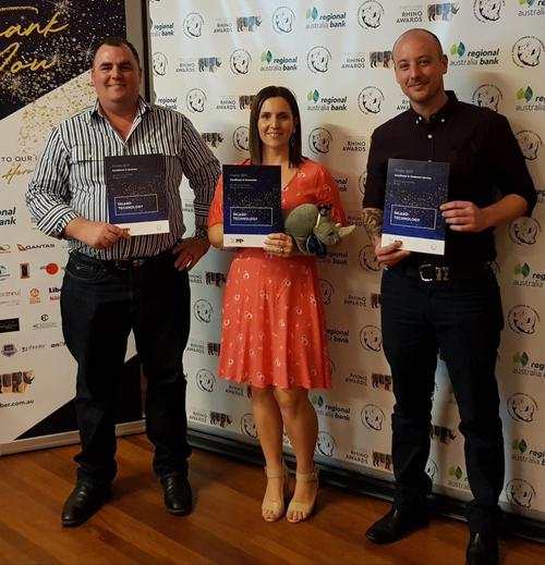 Inland Technology staff with Award Nominations