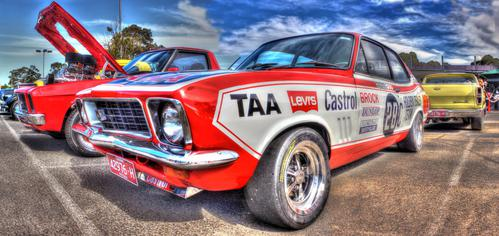 Australian Peter Brock Holden Torana Xu-1 race car. Peter Brock was Australia s most famous race car driver winning the Bathurst 1000 a record 9 times earning him the nickname of King of the Mountain