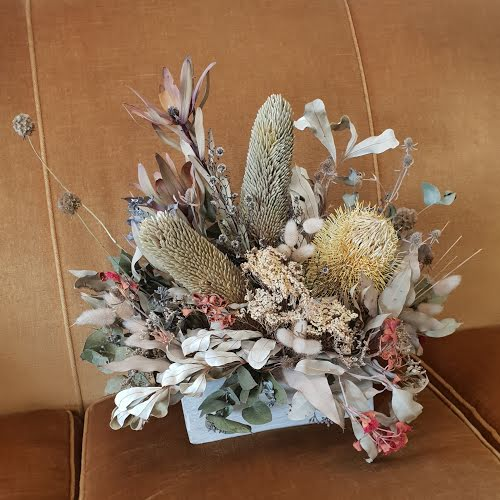 A Dried Floral Arrangement