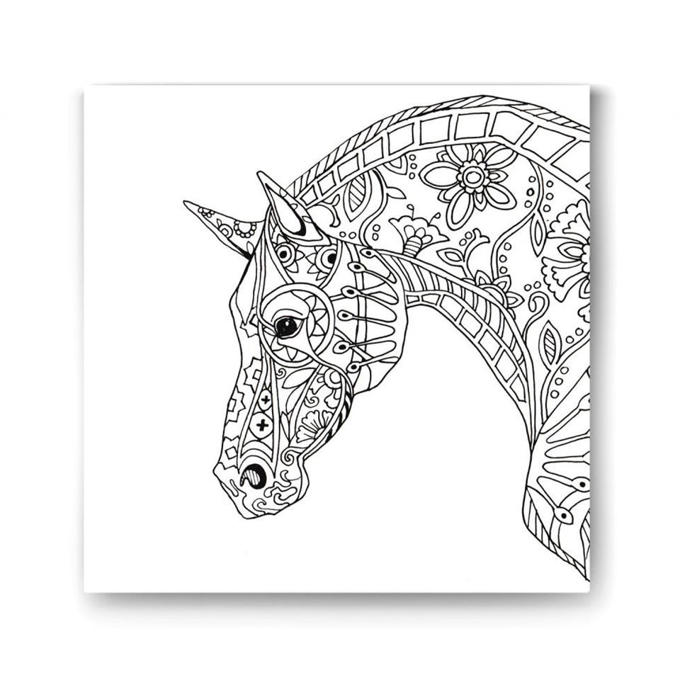 كنفا ماندالا مزخرفة برأس حصان