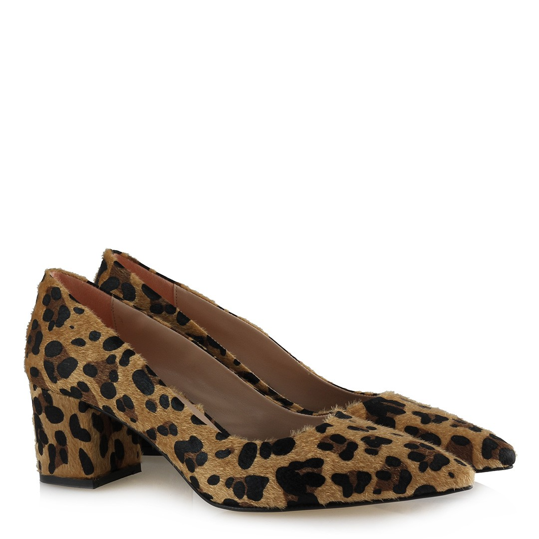 Women's Leopard Pattern Thick Heeled Shoes