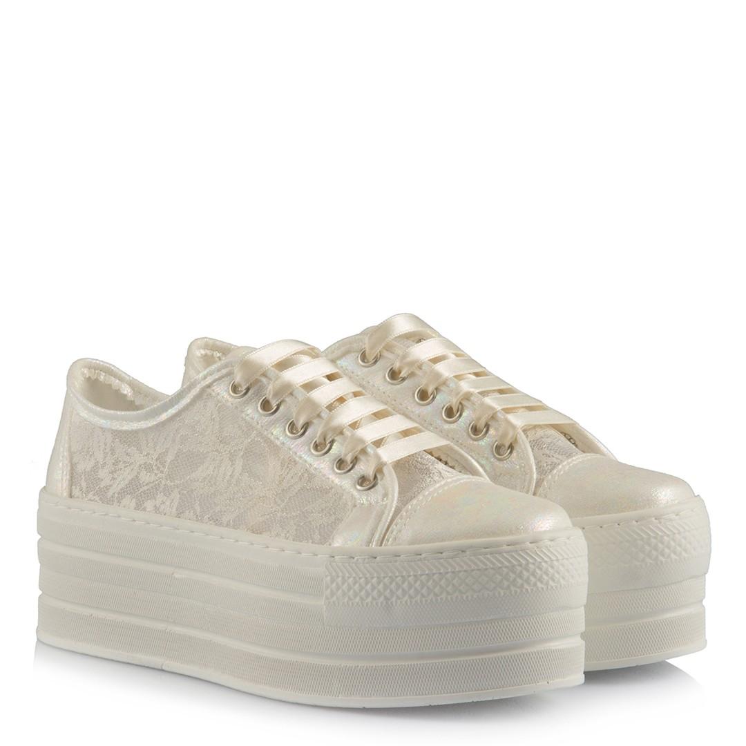 High Base Lace Bridal Sport Shoes