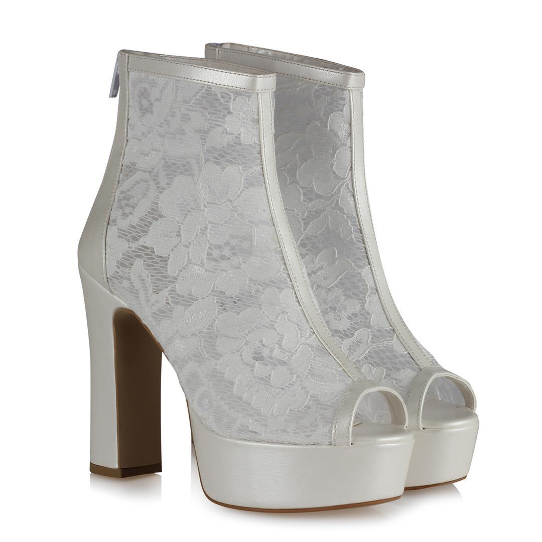 حذاء زفاف دانتيل نسائي