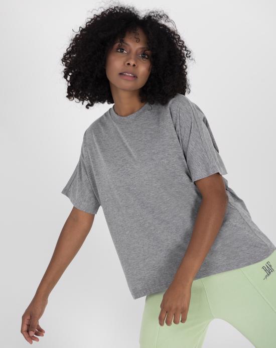 Women's Oversize Basic Grey Melange T-shirt