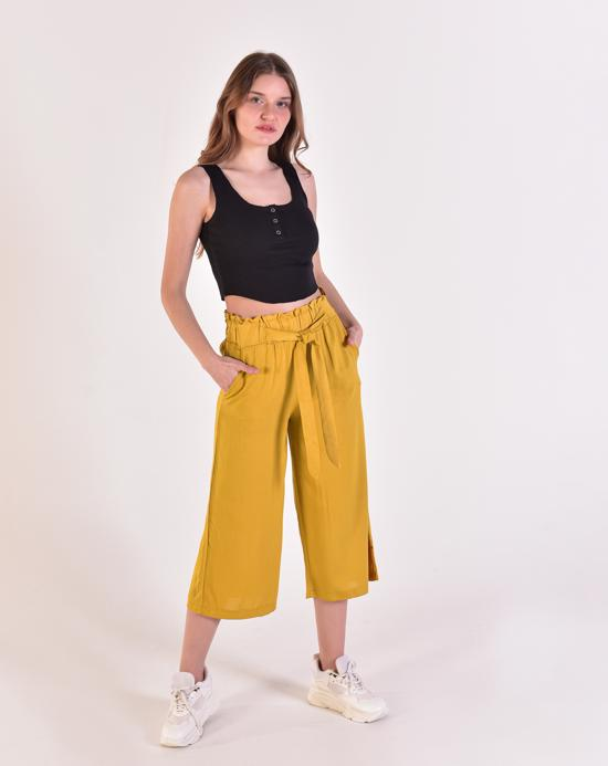 Women's Sleeveless Black Crop Blouse