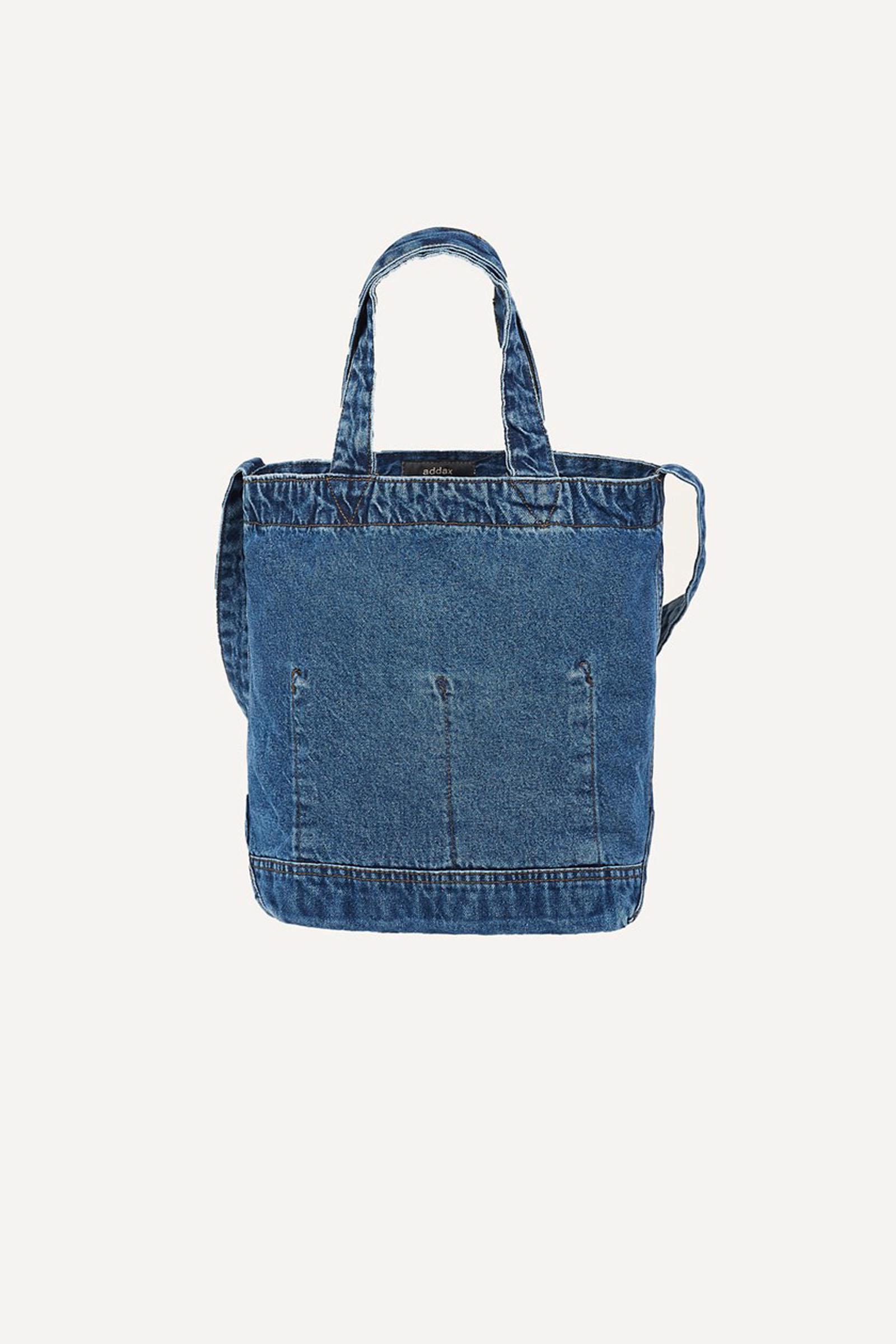 حقيبة دنيم زرقاء نسائية