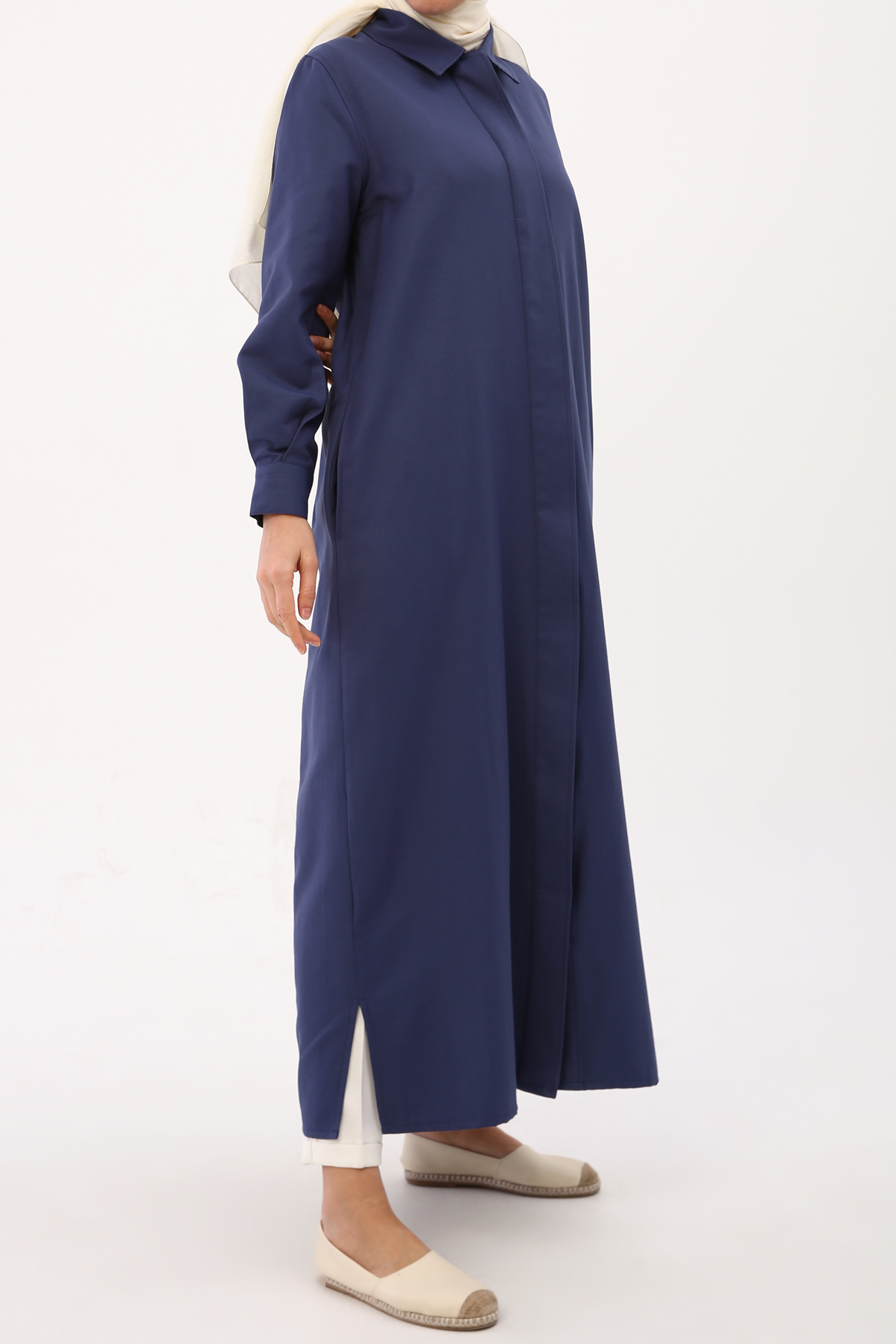 Women's Pocket Indigo Abaya
