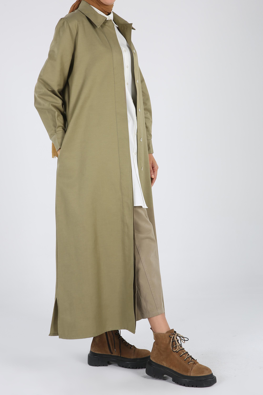 Women's Pocket Khaki Abaya