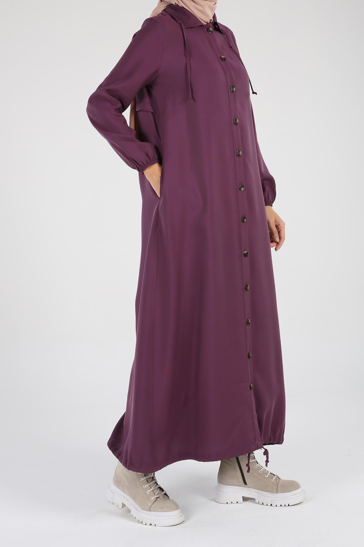 Women's Button Damson Abaya