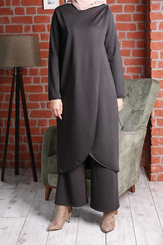 Women's Anthracite Tunic & Pants Set