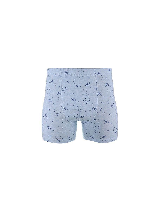 Men's Patterned Blue Boxer