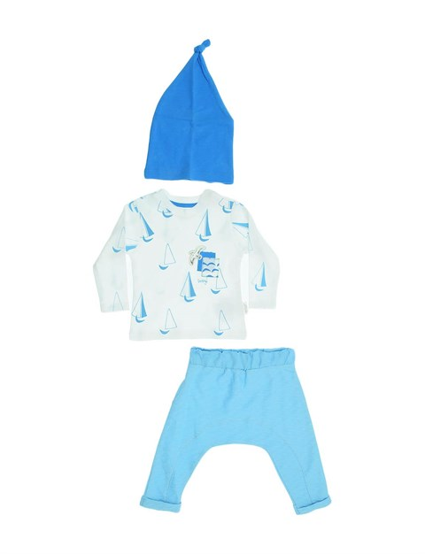 Baby Boy's Printed Outfit- 3 Pieces