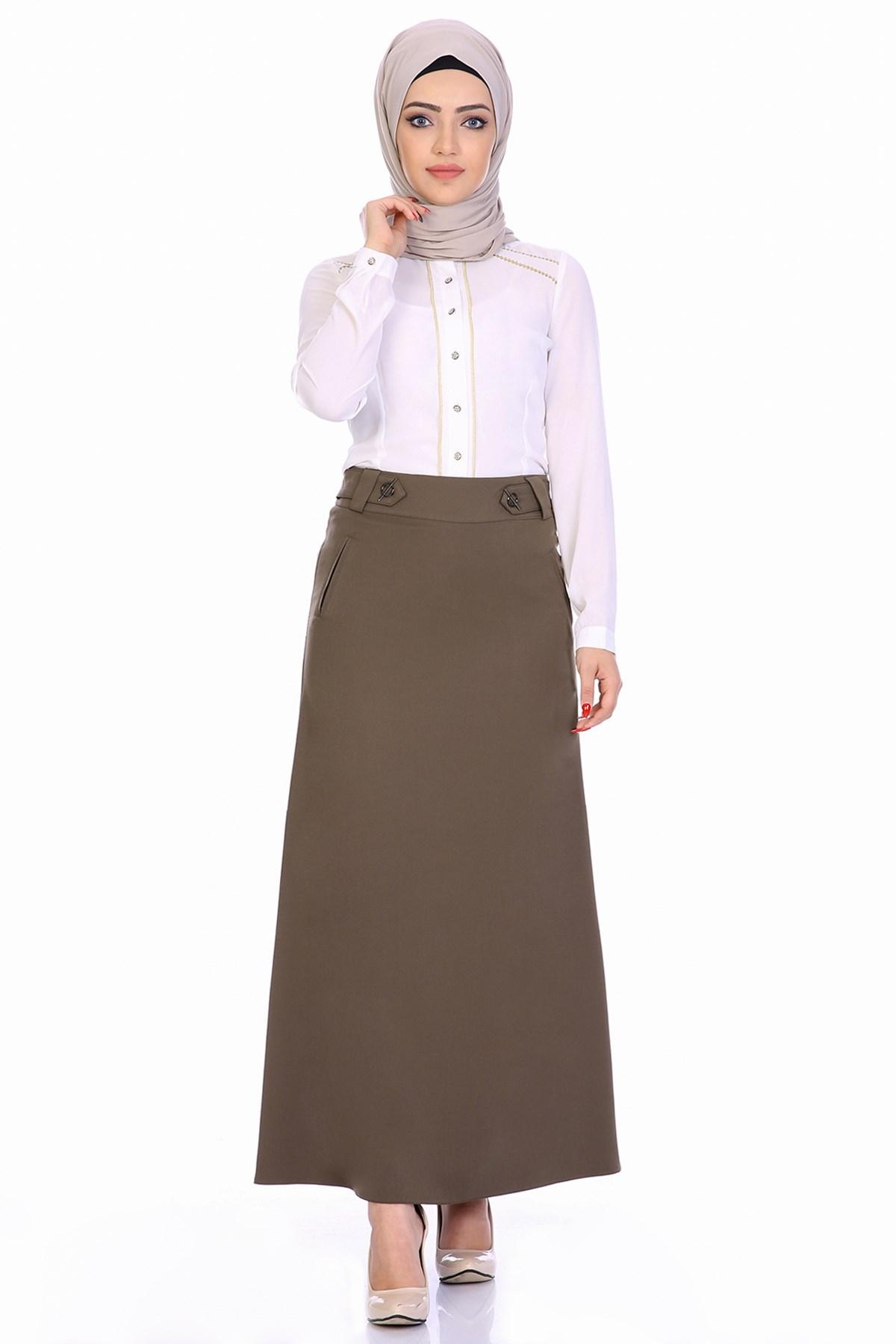 Women's Belted Long Skirt