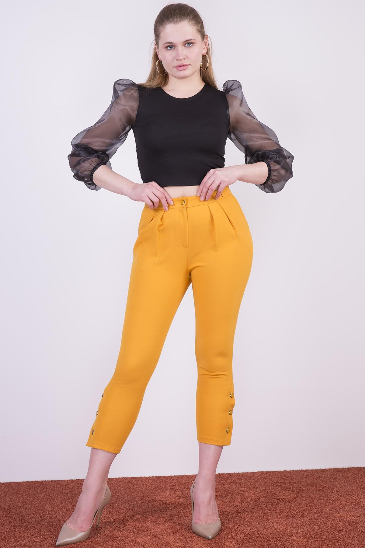 Women's Button Detail Pants