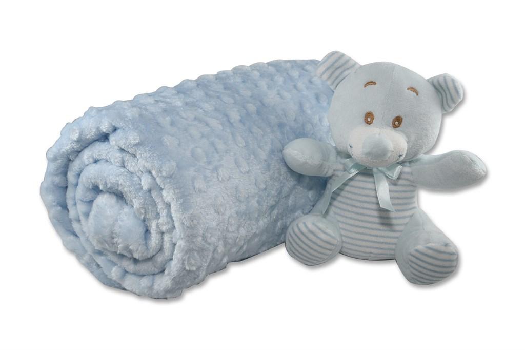 بطانية أزرق فاتح رضع أطفالي
