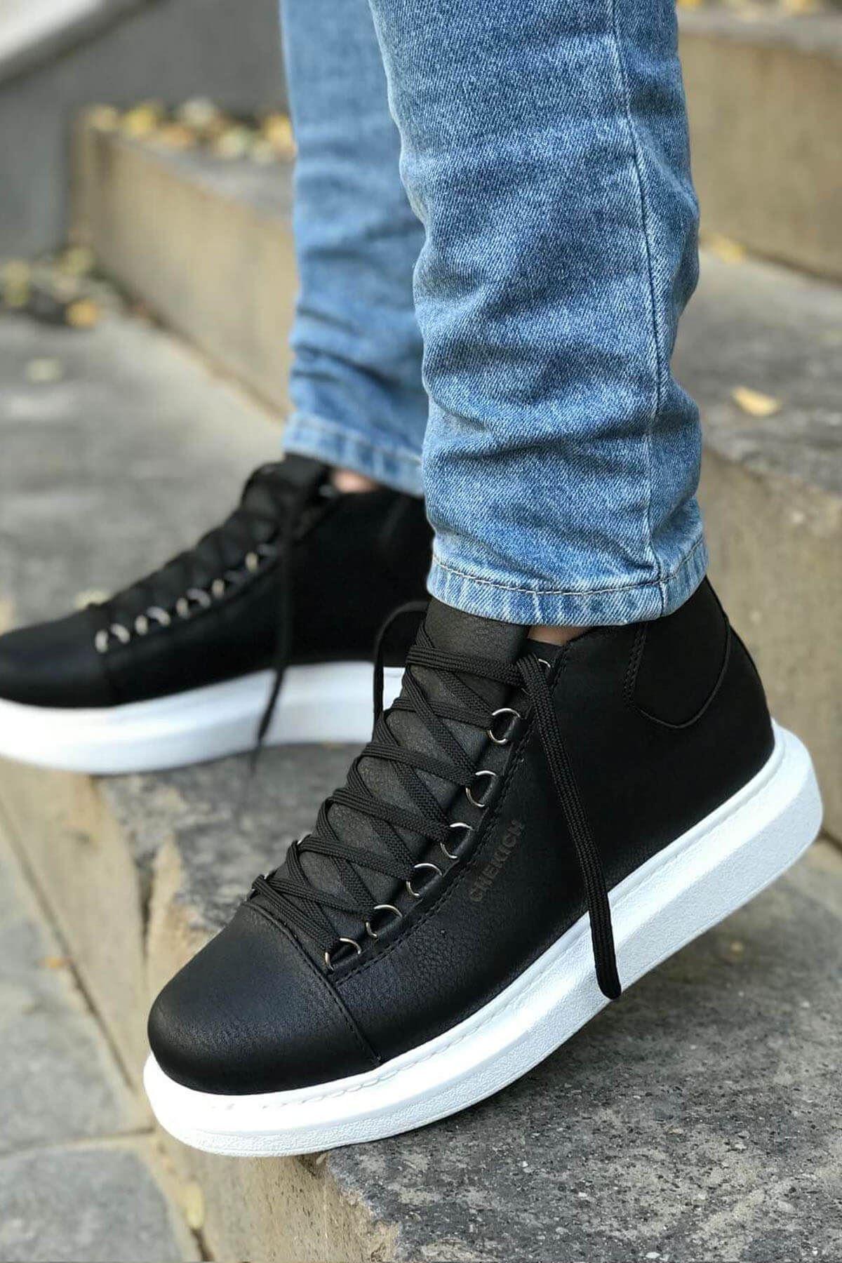 Men's Lace-up Black Boots