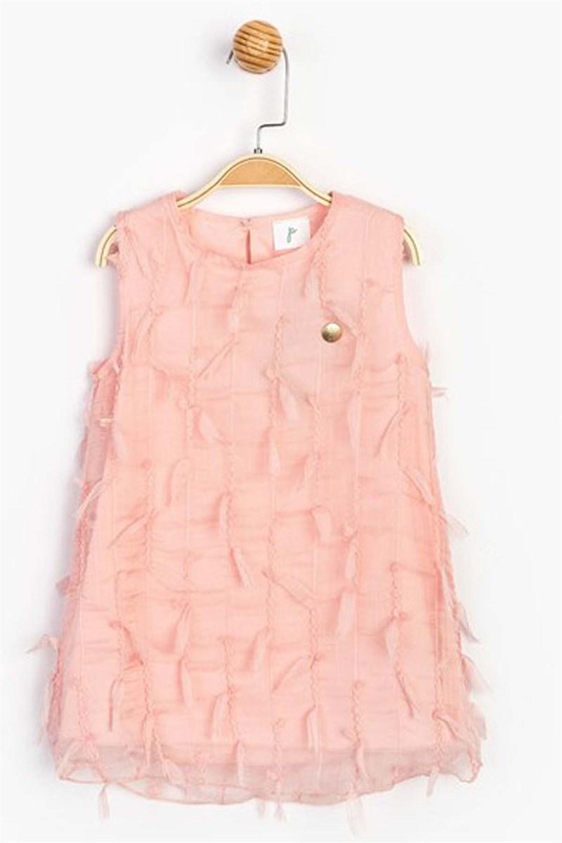 فستان صيفي وردي بناتي