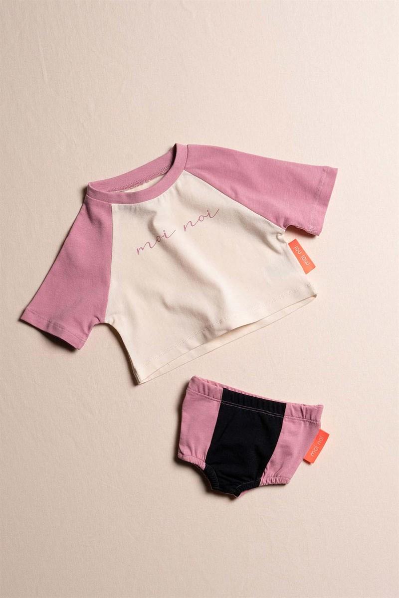 طقم ملابس رضع بناتي - 2 قطعة