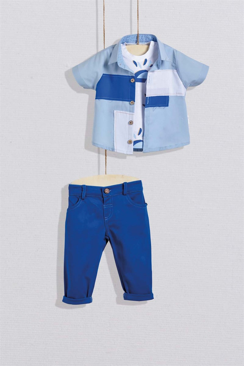 Baby Boy's Outfit Set – 3 Pieces