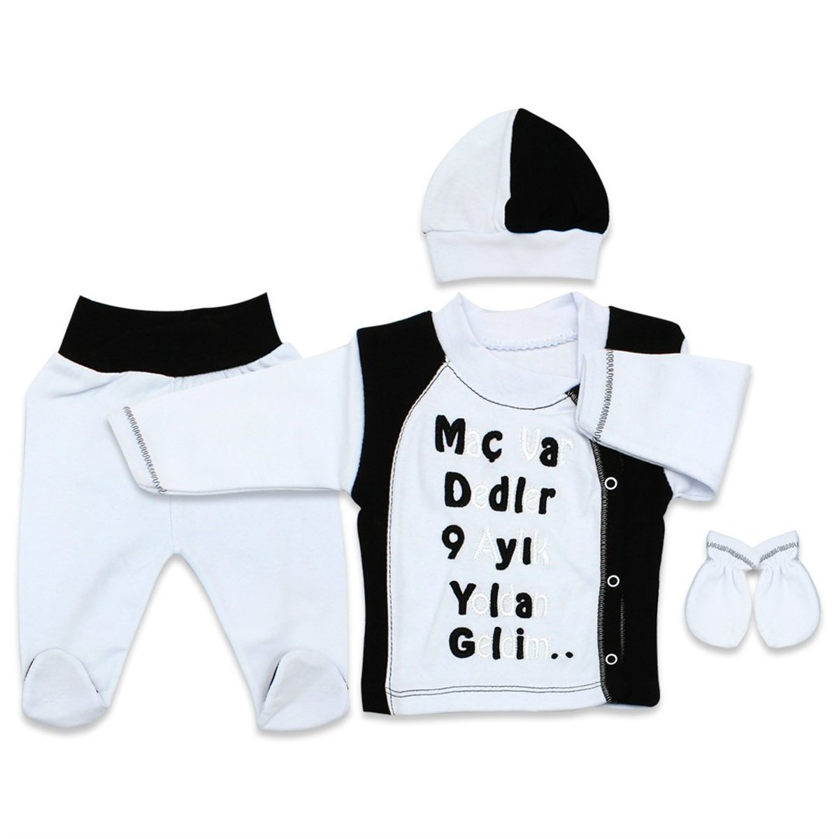 Baby's BJK Design Black White Outfit Set