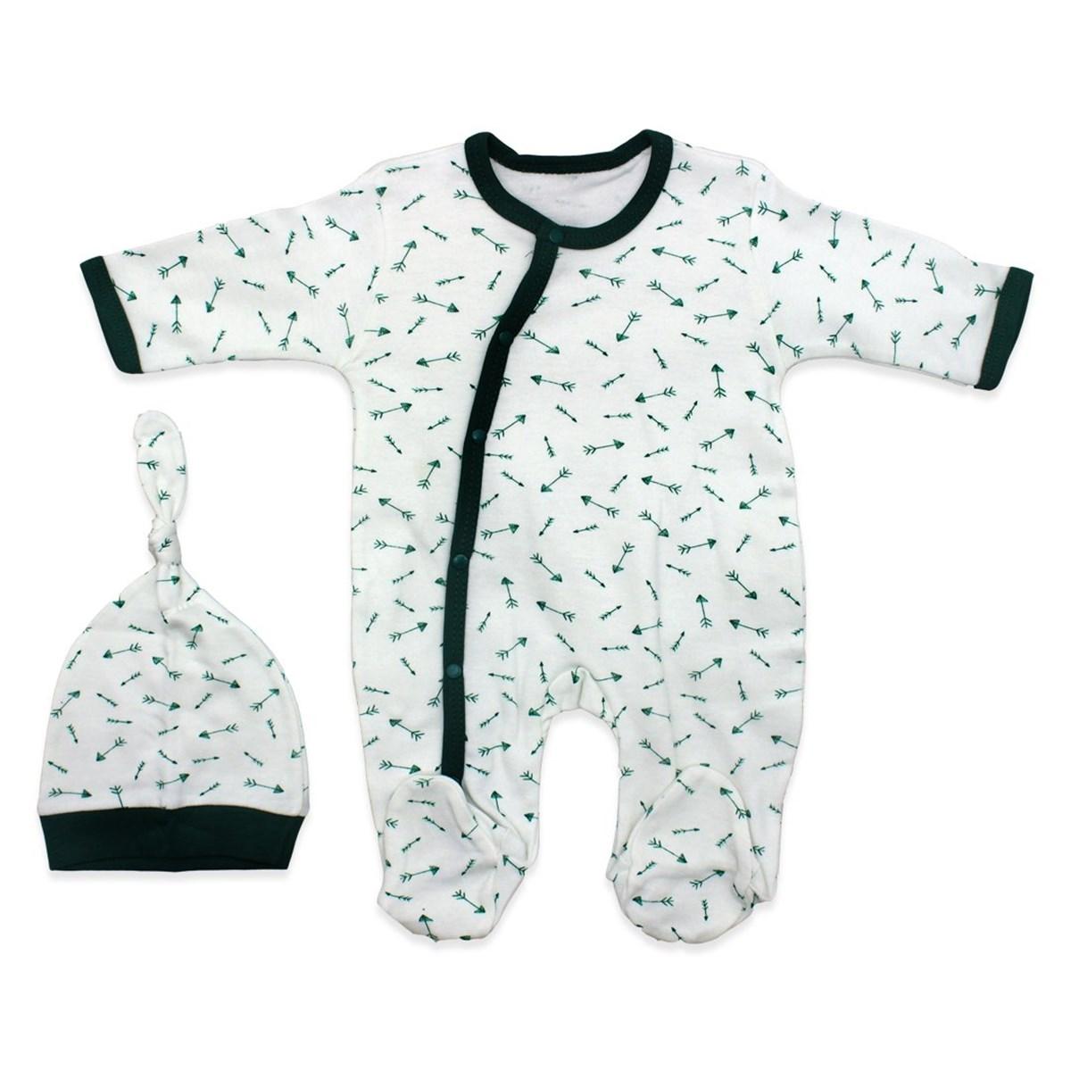 Baby's Printed White Romper