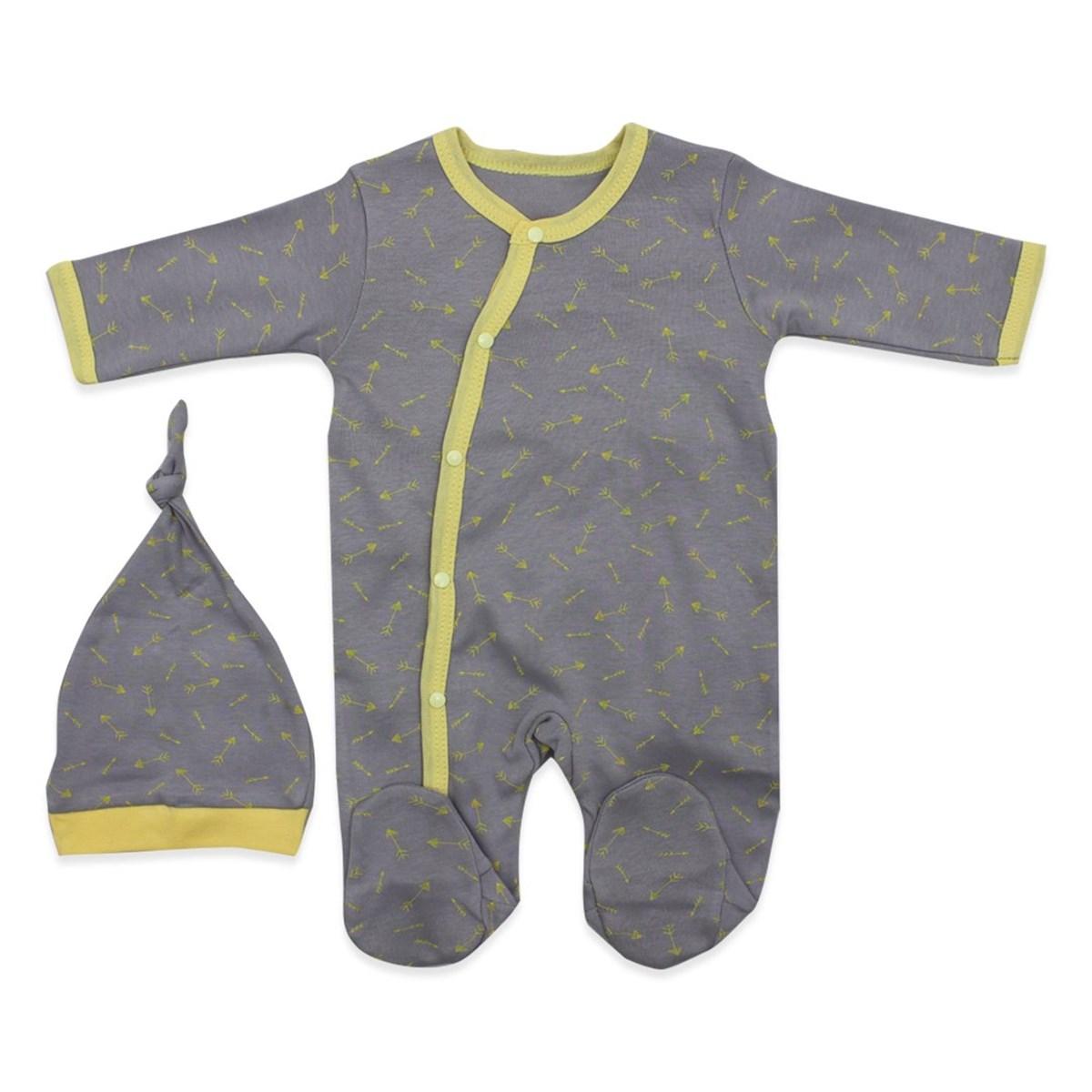 Baby's Printed Grey Romper