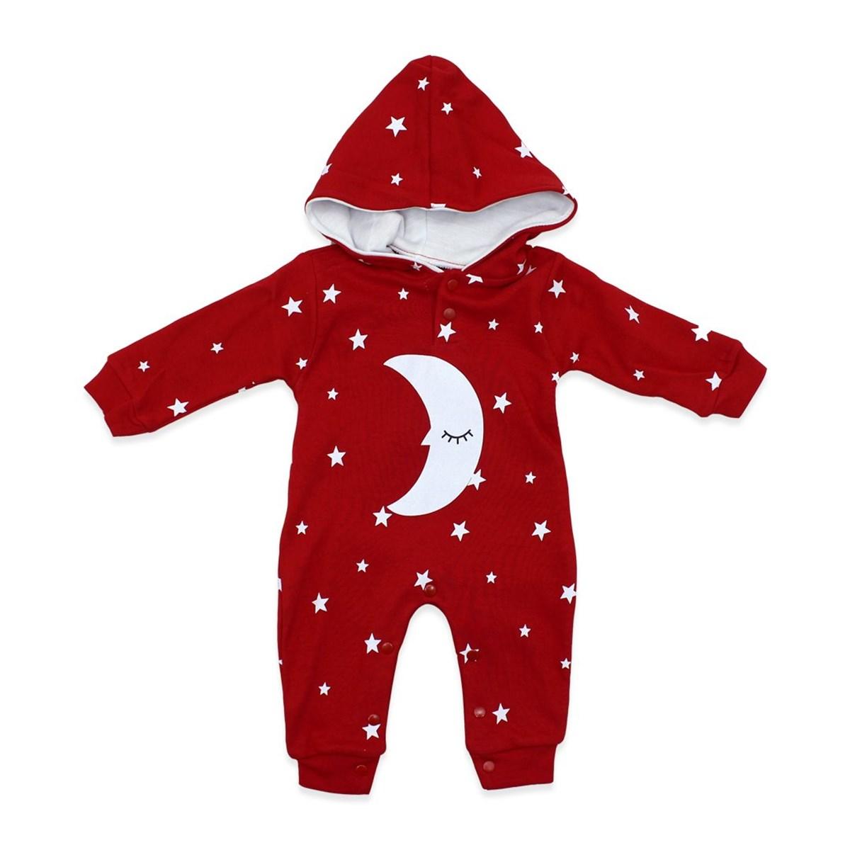 Baby's Star Print Red Romper