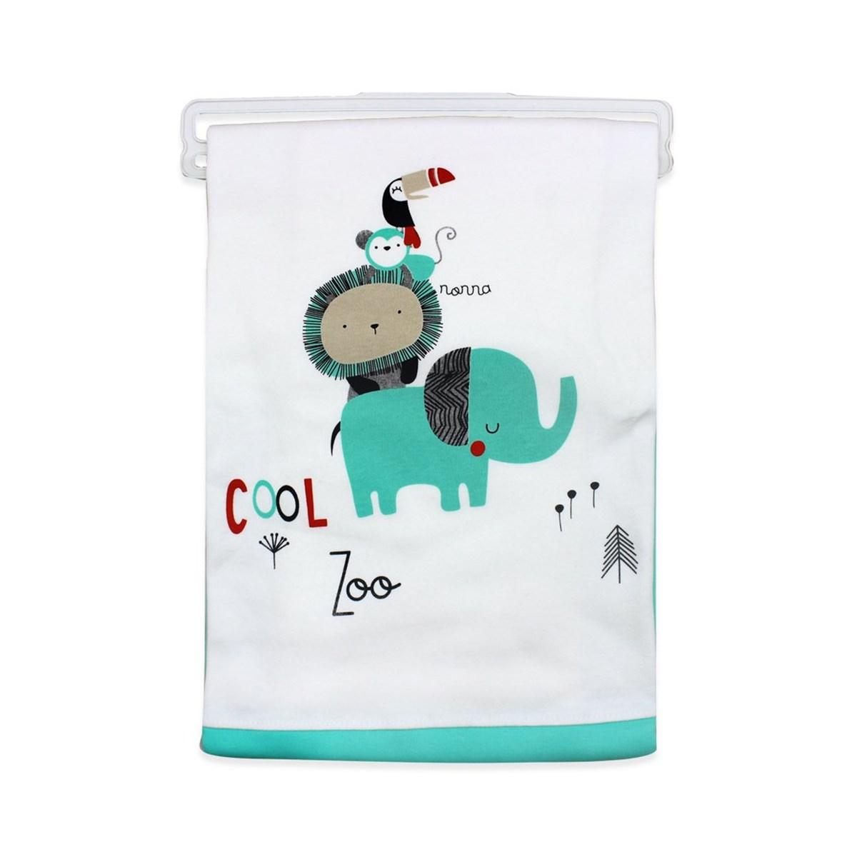 بطانية بيضاء تركواز رضع