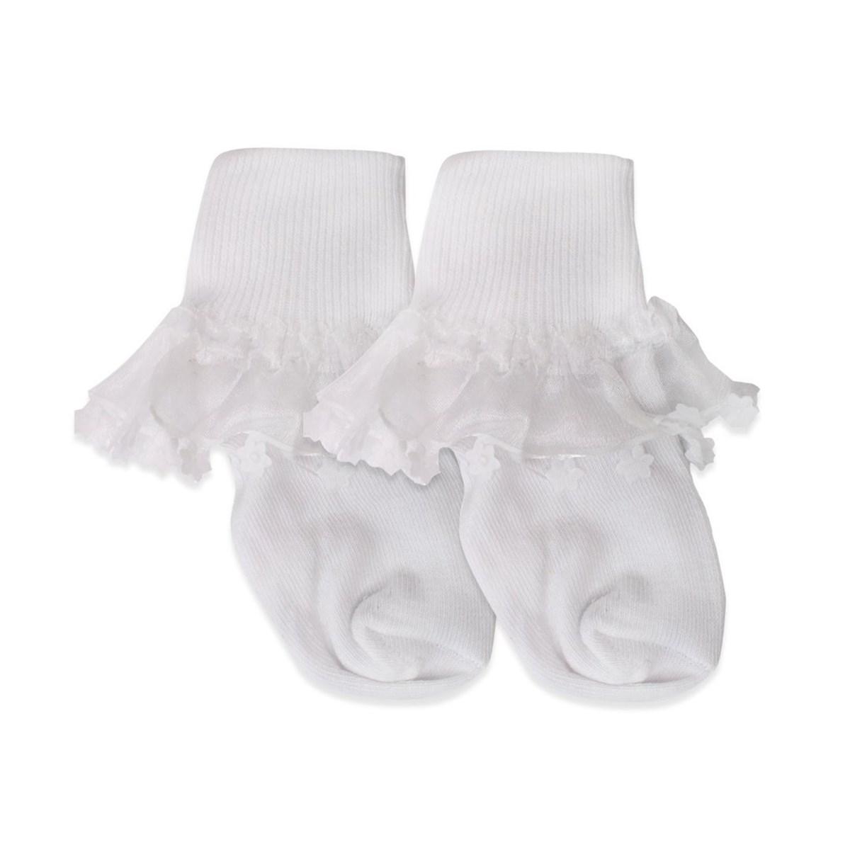 Baby Girl's Floral Detail White Socks