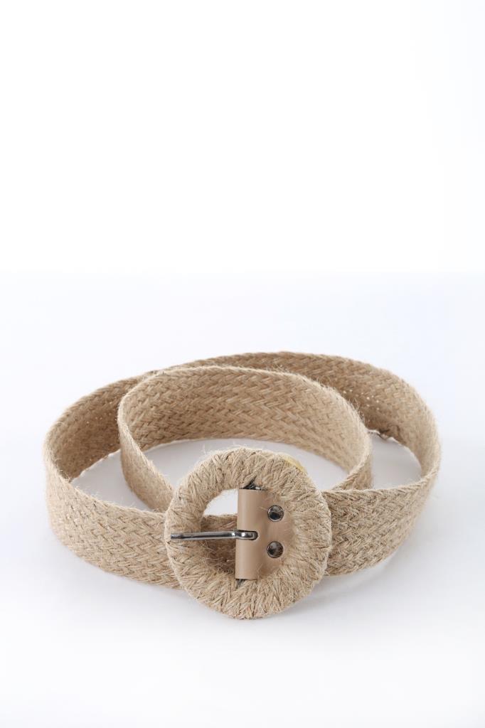 Women's Buckle Straw Belt
