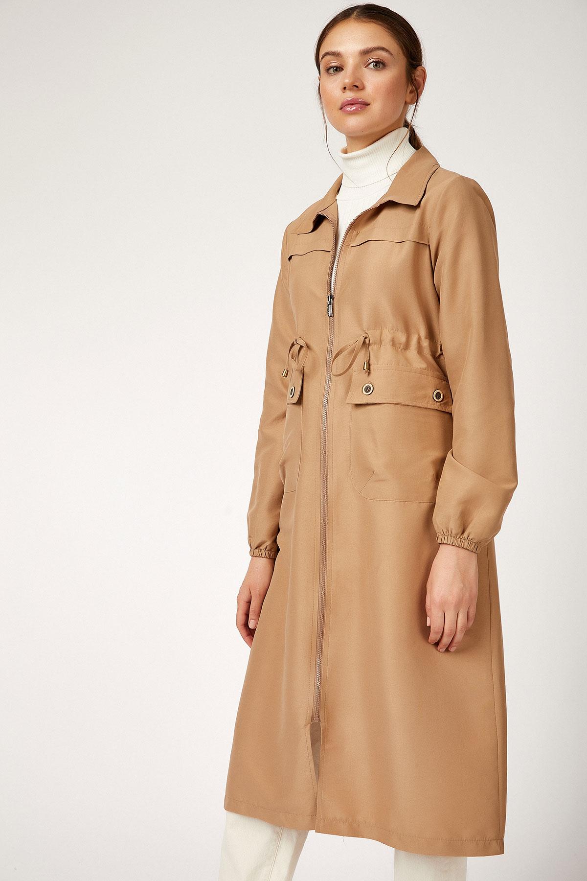 Women's Zipped Modest Trenchcoat