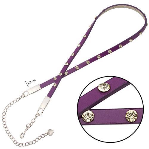 حزام كلاسيك جلد بفصوص نسائي