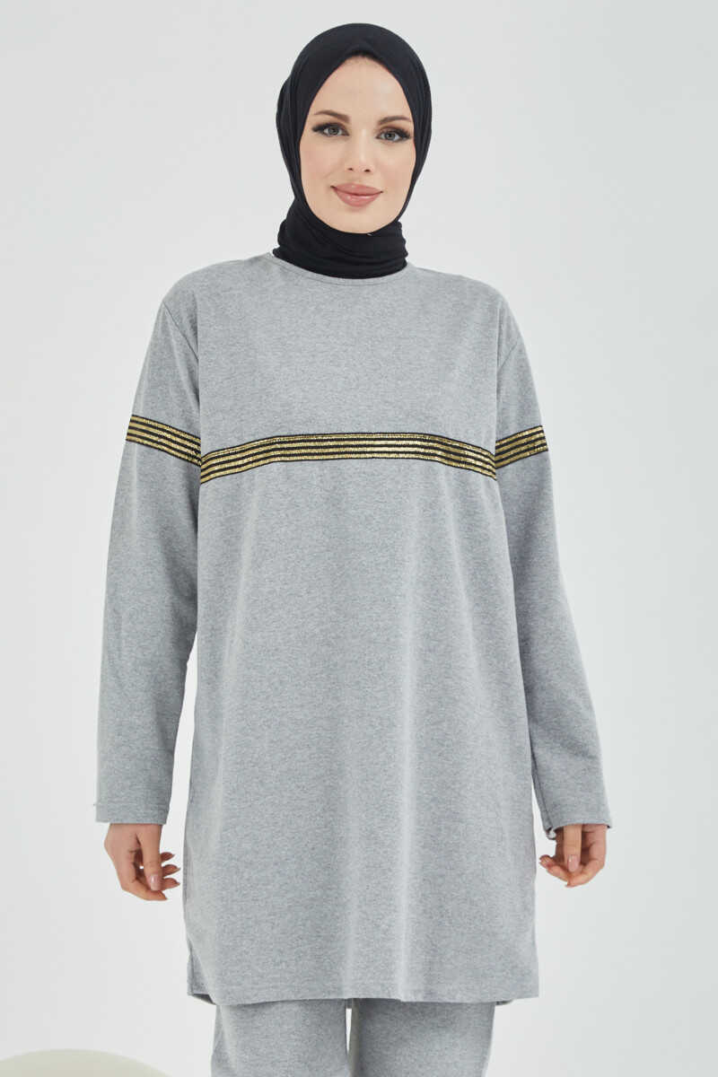 Women's Grey Modest Tracksuit
