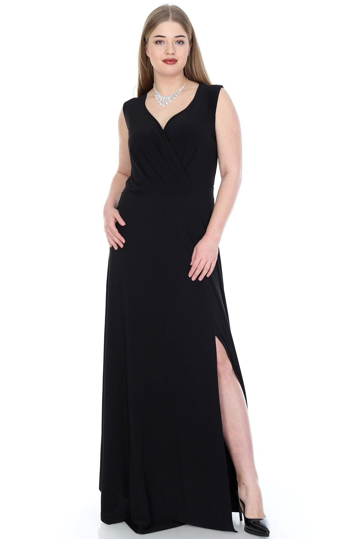 Women's Oversize Side Slit Evening Dress