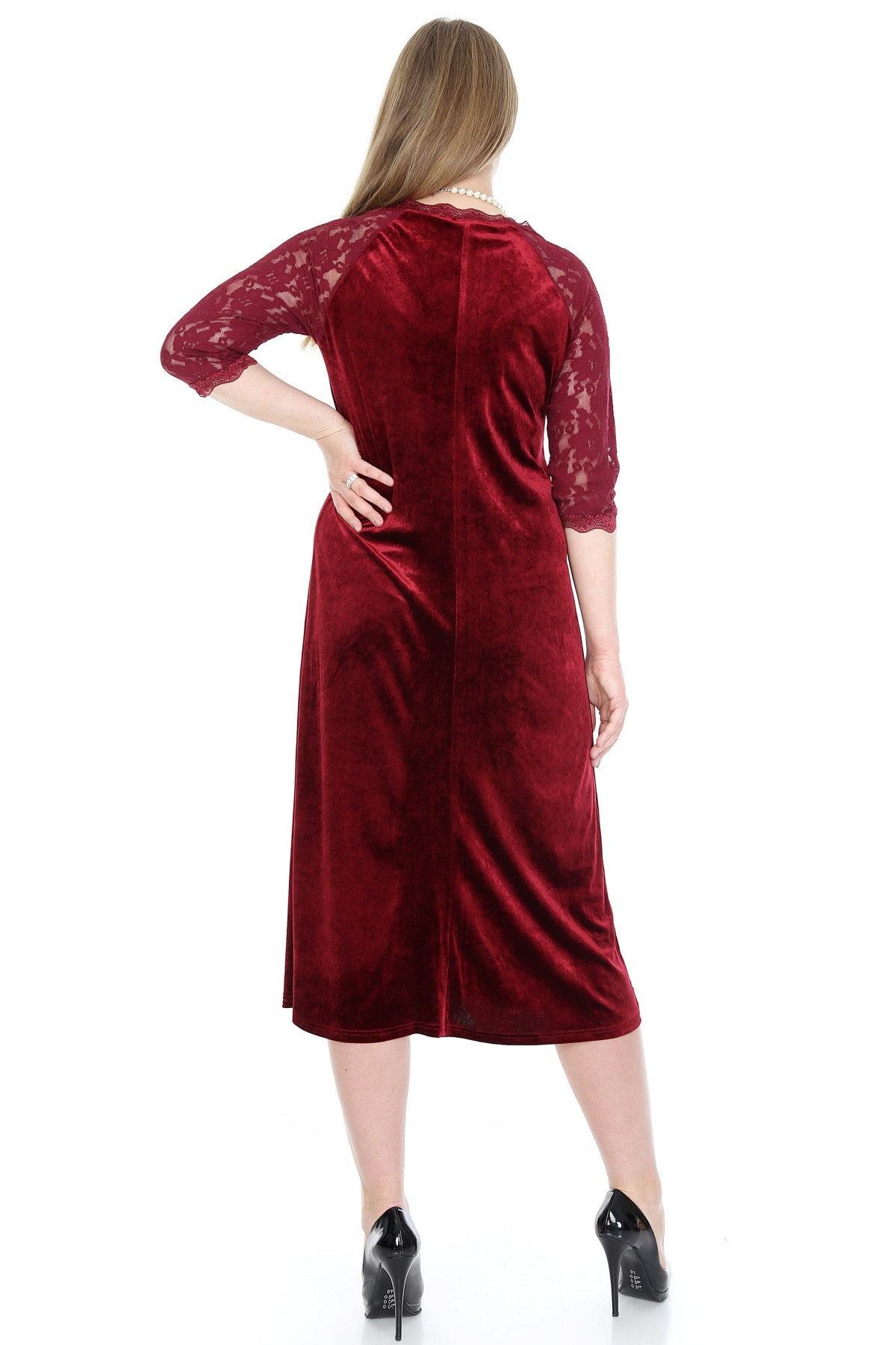 Women's Oversize Velvet Evening Dress