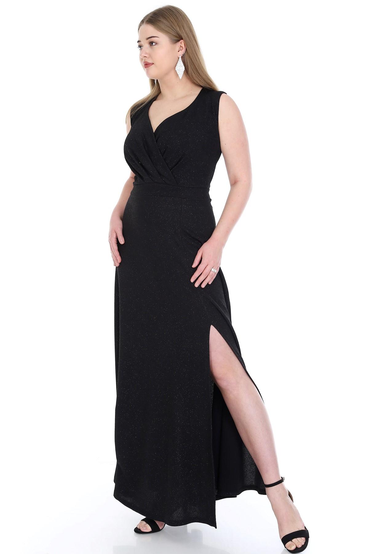 Women's Oversize Long Elastic Shiny Evening Dress
