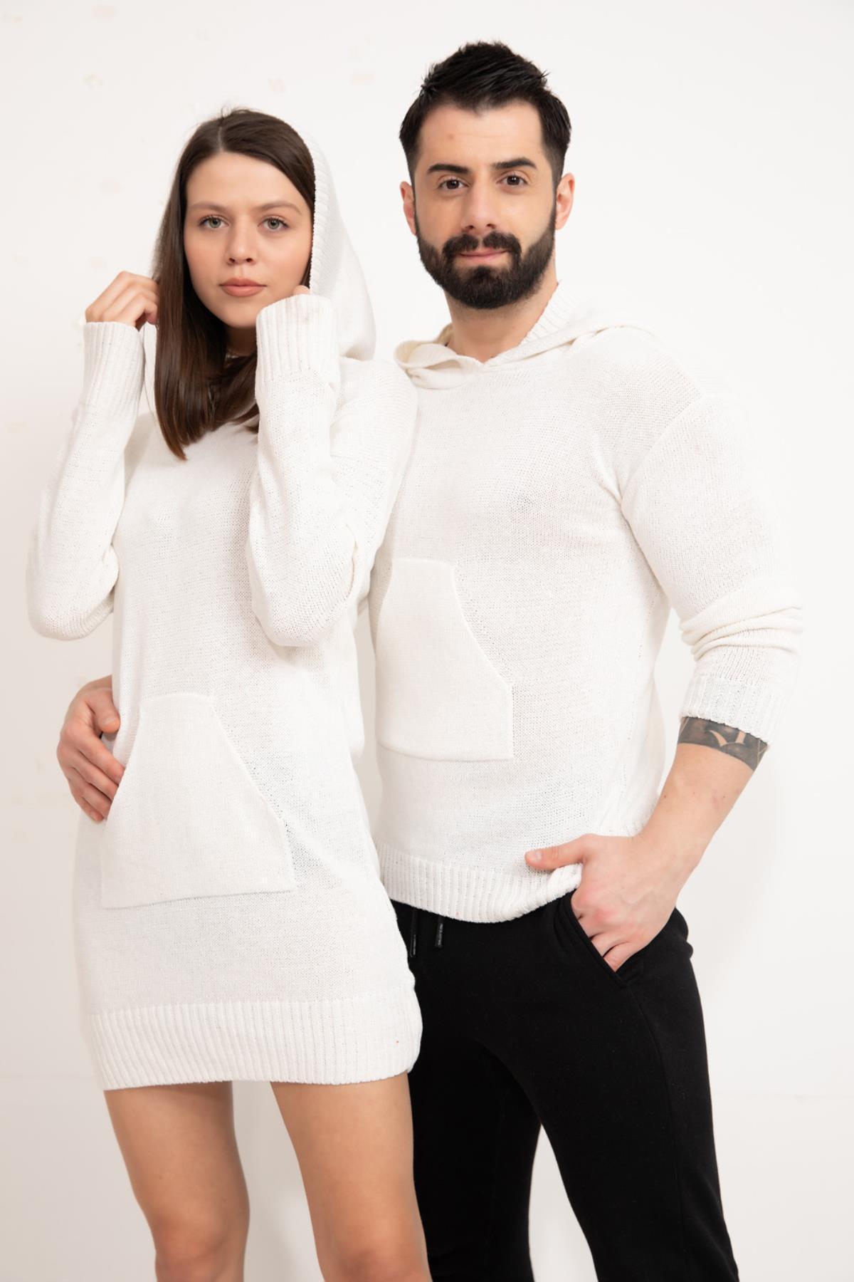 Couple's Kangaroo Pocket Sweatshirt Set