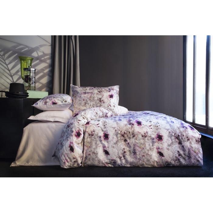 طقم سرير مزدوج ستان- غطاء لحاف: 200*220 سم، ملاية: 240*260 سم، غطاء وسادة: 50*70 سم (4 قطع)