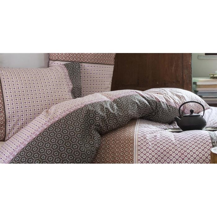 طقم سرير مزدوج ستان- غطاء لحاف: 200*220 سم، ملاية: 240*260 سم، غطاء وسادة: 50*70 سم (2 قطعة)