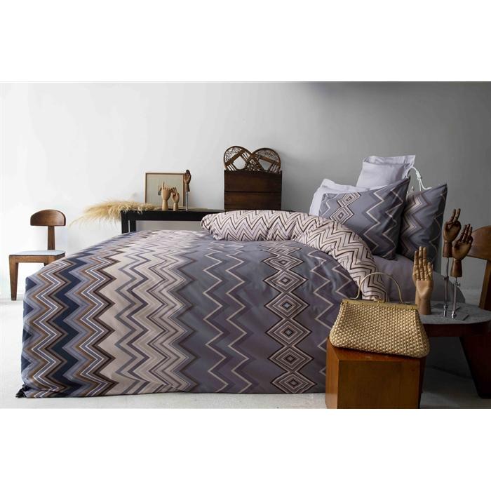 طقم سرير مزدوج ستان (غطاء لحاف: 220*200 سم، ملاية: 240*260 سم، غطاء وسادة: 50*70 سم- 2 قطعة)