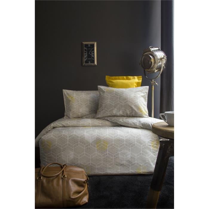 طقم غطاء لحاف سرير فردي بيج بطبعة