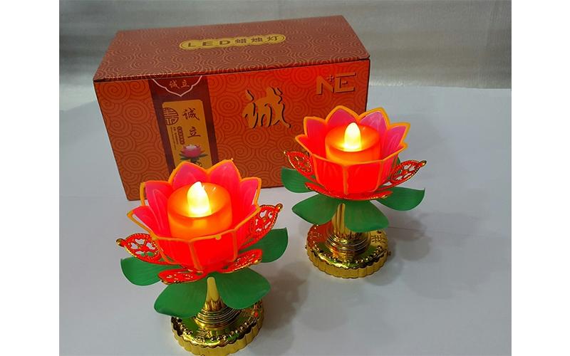 شمع ليد بتصميم وردة- 2 قطعة