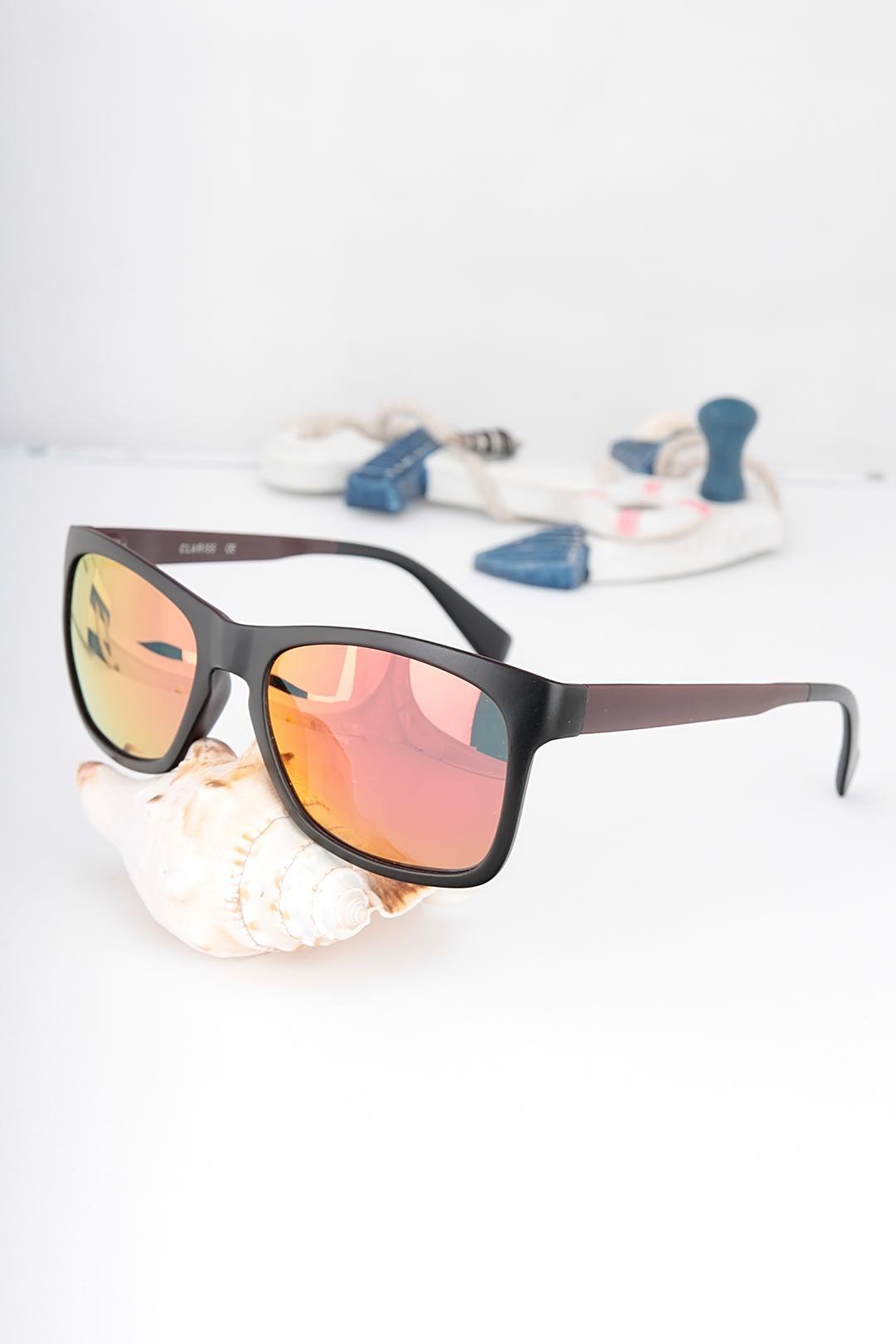 Black Metal Purple Frame Sunglasses