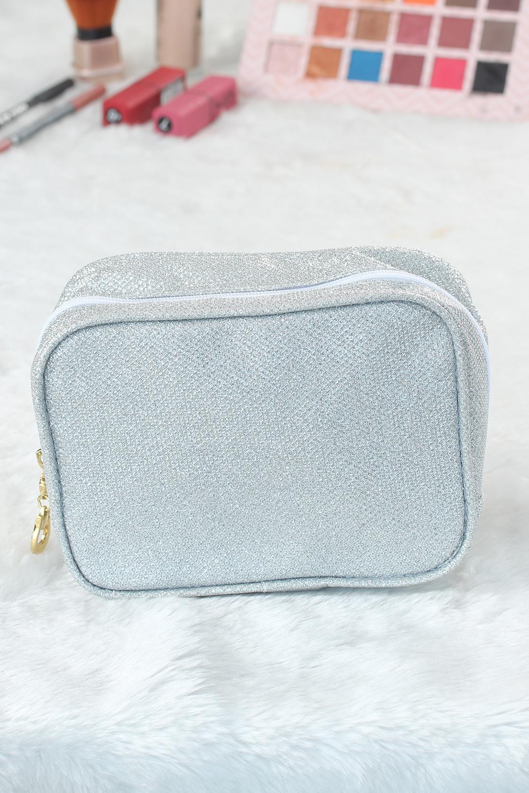 Women's Glitter Square Makeup Bag